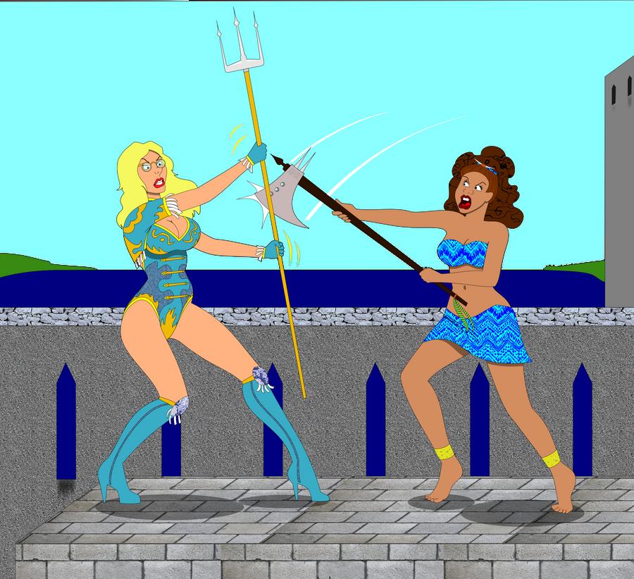 Brigitte vs. Neshia by combatcuties