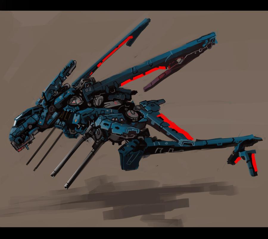 Nymph gunship by Zhangx