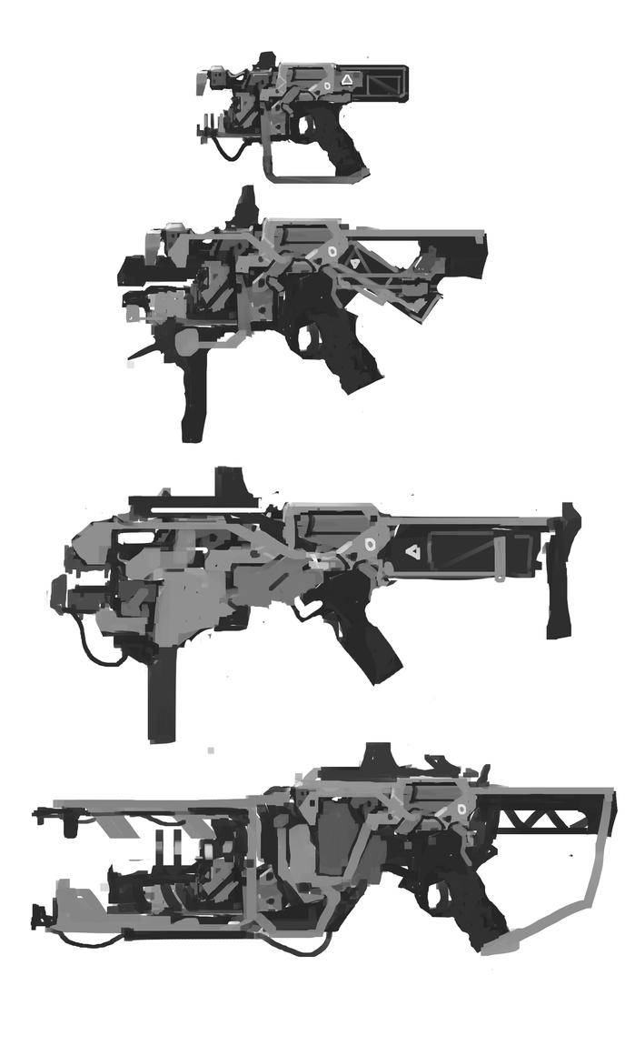 gun sketch by Zhangx