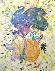 Watercolor SpaceGirl
