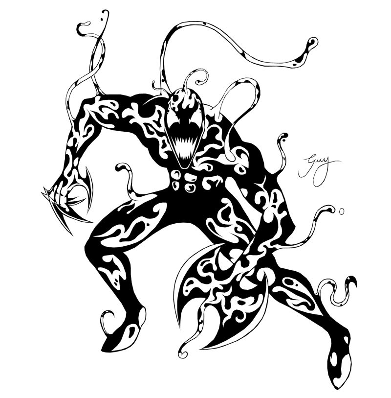 carnage spider man coloring pages - photo#13