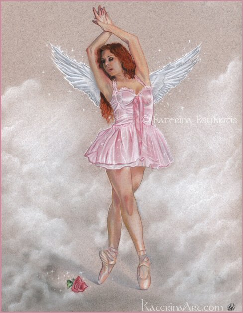 Angelic Ballerina by Katerina-Art