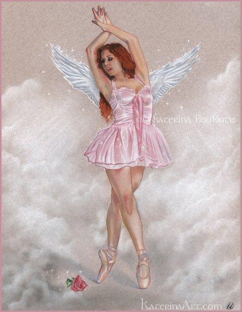 Angelic Ballerina by Katerina-Art