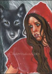 Little Red Riding Hood - ACEO by Katerina-Art