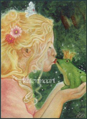 frog prince kiss