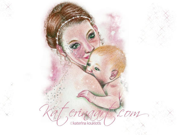 Fairy and Child Wallpaper by Katerina-Art