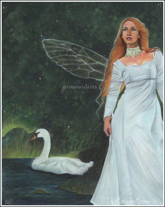 Swan Fairy by Katerina-Art