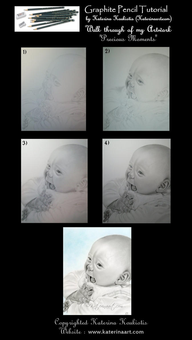 Baby Portrait Pencil Tutorial by Katerina-Art