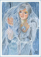 The Snow Queen - ACEO by Katerina-Art