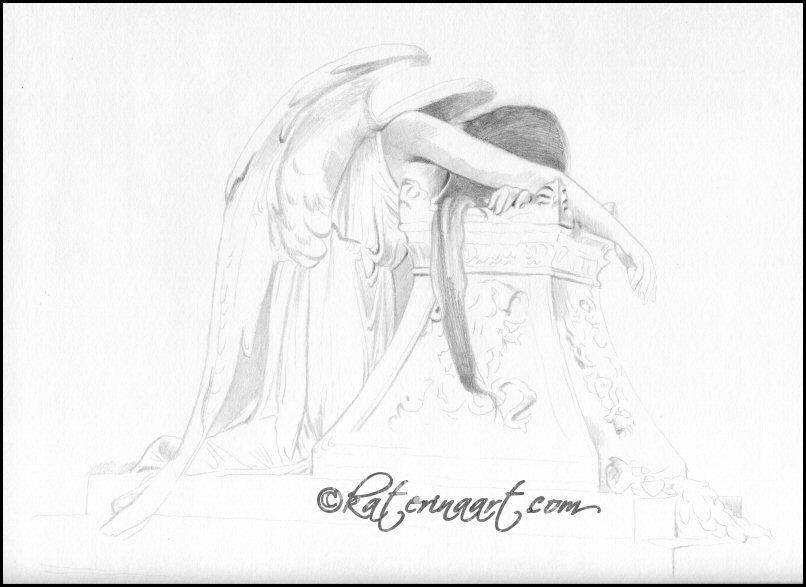 Weeping Angel - Sketch - WIP by Katerina-Art