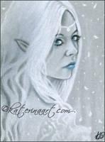Elven Queen ACEO by Katerina-Art