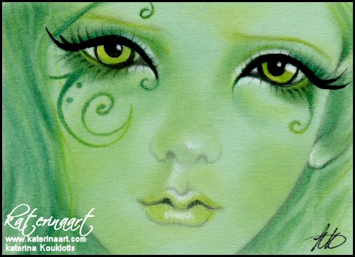 The Green Fairy ACEO by Katerina-Art