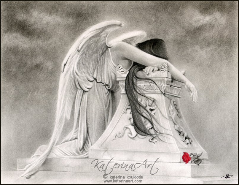 fantasy art angel sad - photo #22