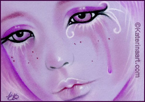 FAIRY ACEO - Violet Tears by Katerina-Art