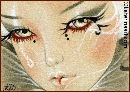 Teardrop  ACEO by Katerina-Art
