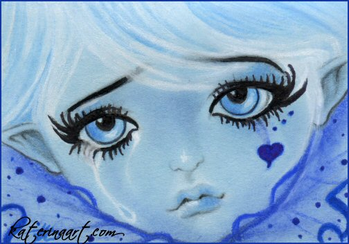 ACEO FAIRY - The Last Teardrop by Katerina-Art
