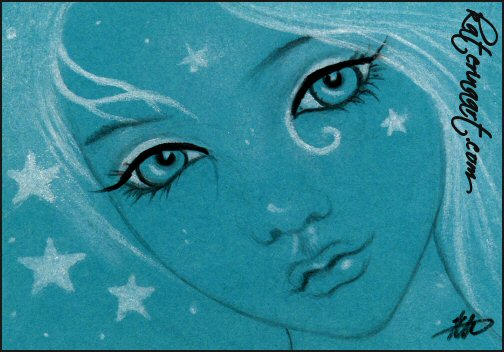 It's full of Stars -ACEO SKETCH FEST by Katerina-Art