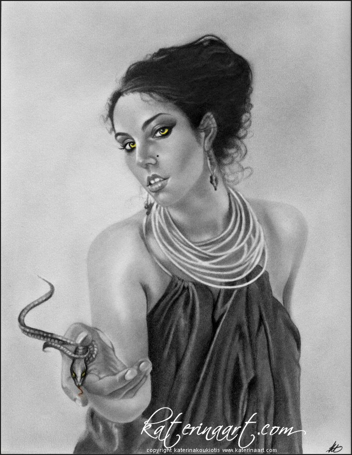 Snake Goddess by Katerina-Art
