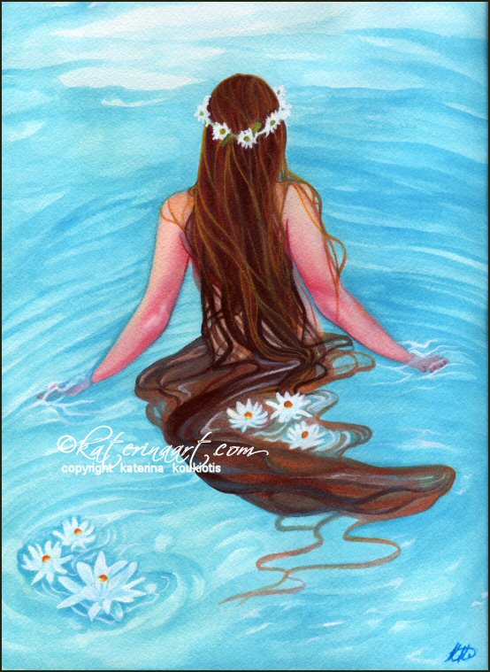 Her hair fell in waves by Katerina-Art