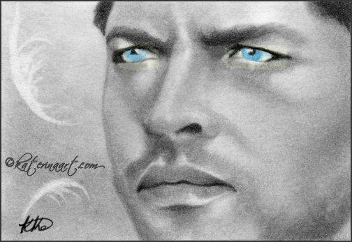 Castiel  Supernatural ACEO SKETCH by Katerina-Art