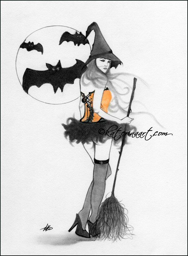 Bewitching Gaze -Sketch by Katerina-Art
