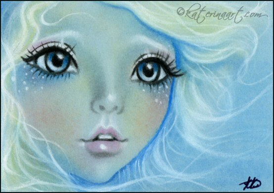 Sea Goddess ACEO by Katerina-Art