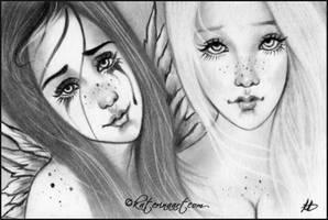 Sisters Sketch by Katerina-Art