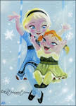 Little Elsa and Anna
