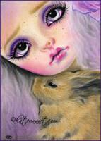 Bunny Love by Katerina-Art