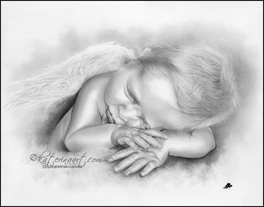 Baby angel boy by katerina art