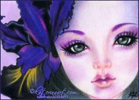 Black Iris ACEO by Katerina-Art