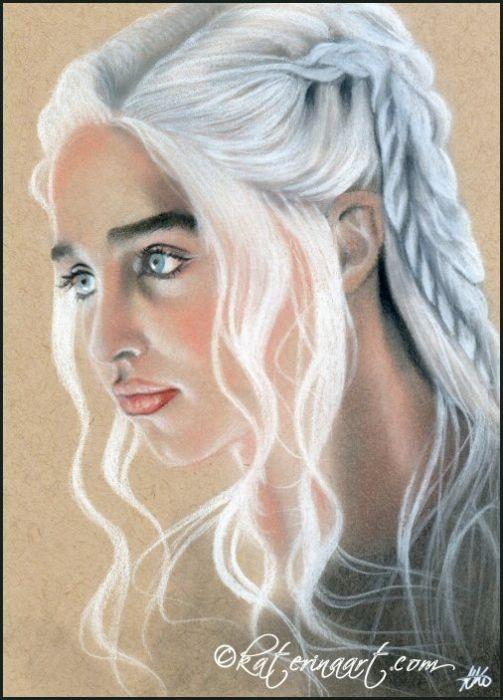 Queen of Dragons Daenerys  Targaryen by Katerina-Art