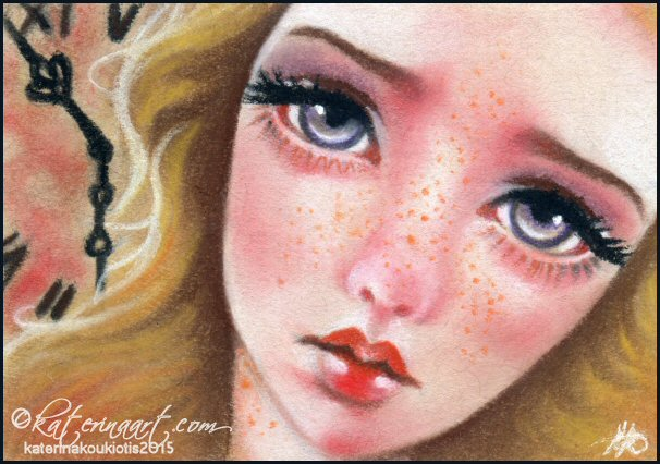 Ripples ACEO commission by Katerina-Art