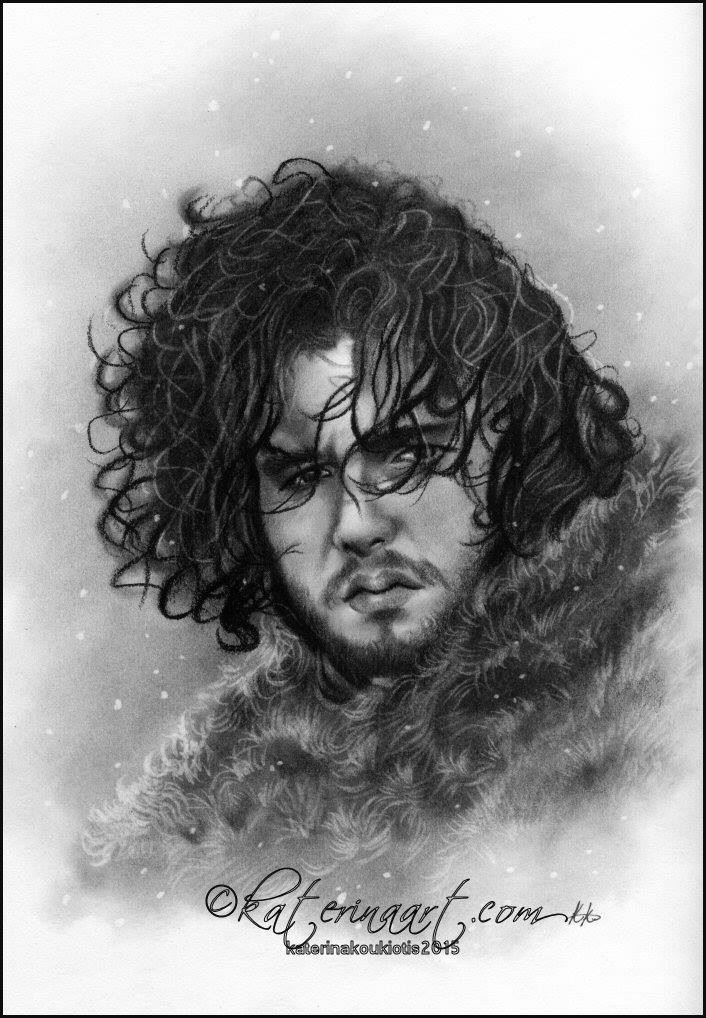 Jon Snow sketch by Katerina-Art