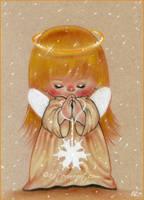Winter Angel -sketch by Katerina-Art