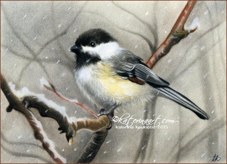 Winter bird by Katerina-Art