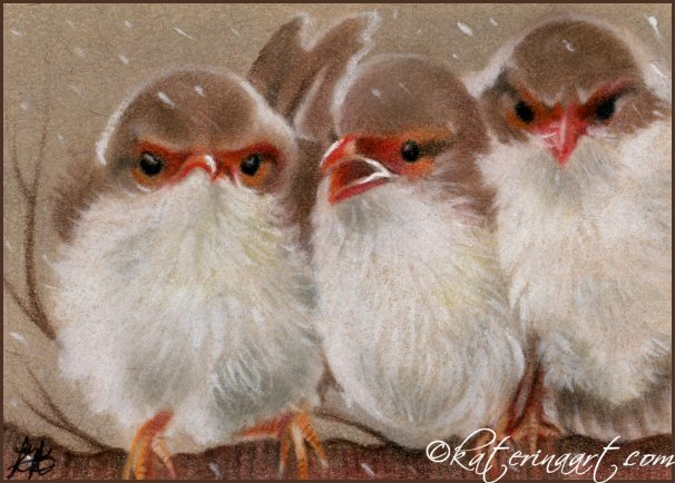 Threes a Crowd by Katerina-Art