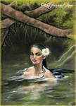 Skinny dipping mermaid sketch