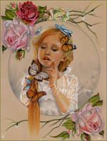 Raindrops on Roses by Katerina-Art