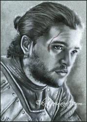 Jon snow speed drawing sketch fest by Katerina-Art