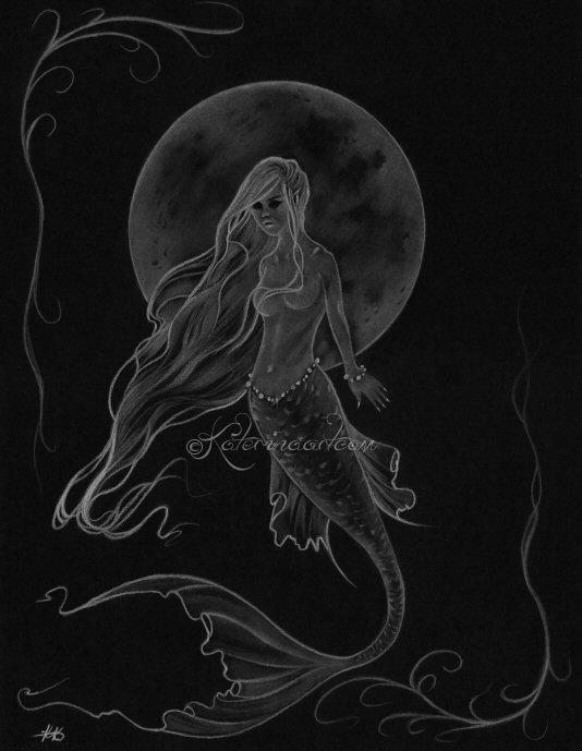 Mermaid Moon -sketch by Katerina-Art