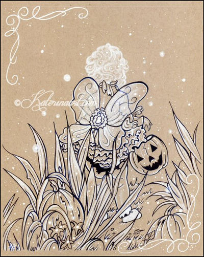 Trick or Treat -Ink Commission by Katerina-Art