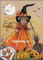 Moonlight witchy magic by Katerina-Art
