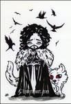 Crow Royalty Chibi Jon Snow  Inktober sketch fest