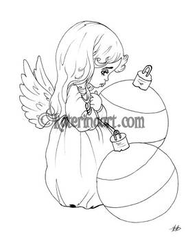 Ornament Angel - FREE COLORING PAGE