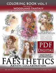 Woodland Fantasy PDF COLORING BOOK by Katerina-Art