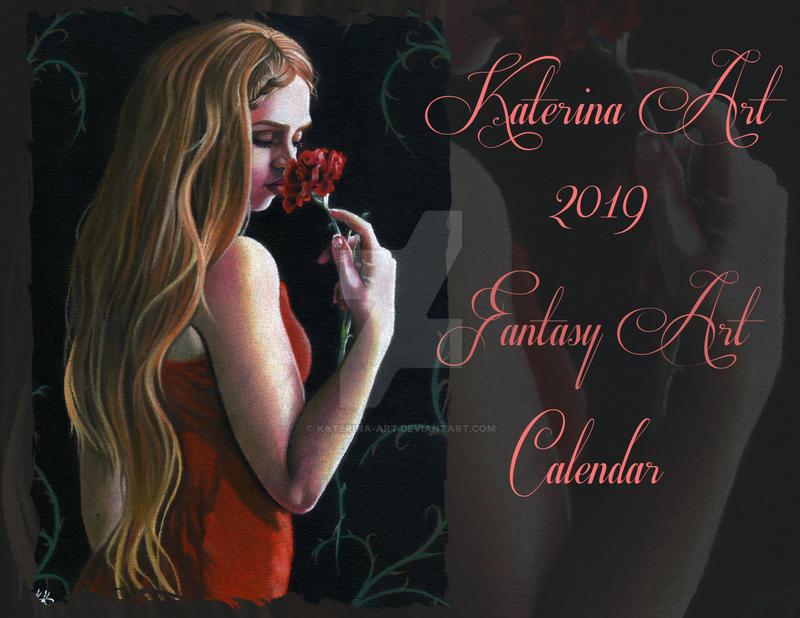 2019 Fantasy Art Calendar by Katerina-Art