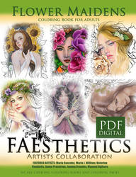 Faesthetics Flower Maidens Coloring Book by Katerina-Art