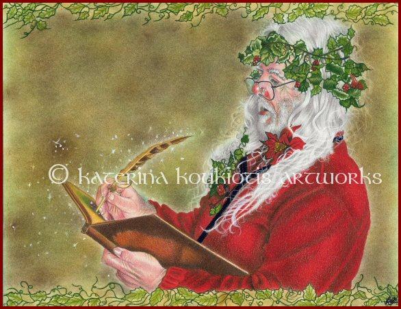 Santa's List by Katerina-Art