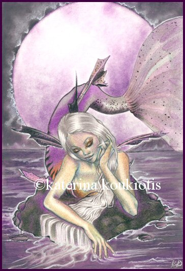 Moonlit Mermaid by Katerina-Art